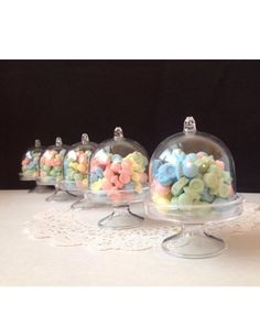 12 Fillable plastic Mini cake Cupcake holder Wedding favors party favors by livivale on Etsy