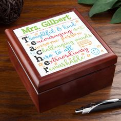 The perfect personalized gift for any teacher!