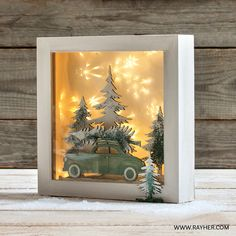 Drive home for Christmas . With your story - in a box! Drive home for Christmas … With your story – in a box! Christmas Family Feud, Driving Home For Christmas, Christmas Games, Christmas Art, Christmas Ornaments, Handmade Christmas Decorations, Holiday Crafts, Christmas Shadow Boxes, Licht Box
