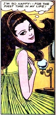 "Comic Girls Say.. ""I'm so happy ! For the first time in my life.. "" #comic #vintage #popart"