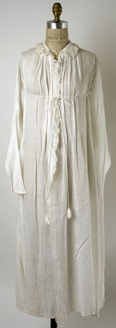 Dressing Gown  Date: ca. 1802