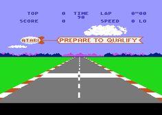 Pole Position, écran de départ
