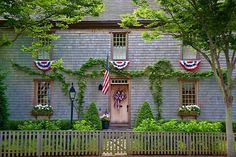 a very nice traditional New England  house.