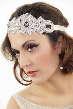 Bridal Headband Crystal headband Art Deco Headband Gatsby Hair piece Wedding Headband Flapper Headband Tiara Bridal Hair Accessories on Etsy, £48.65
