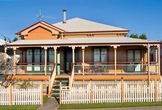 "A home of this style in is known as a  ""Queenslander"" home #australianhomes"