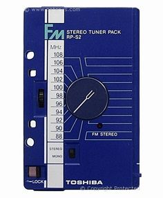 Toshiba RP-S2 FM Stereo Tuner Pack (1981)