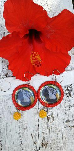 Macaw Parrot Earrings PaRRot Jewelry Blue by SecretStashBoutique