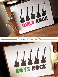 Let your kids know they ROCK!  Hang this free printable on the bathroom mirror, put it next to their dinner plate or use it for room decor.