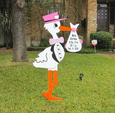 Personalized stork sign! The perfect way to welcome home a new baby!