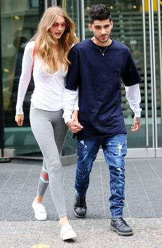 Gigi Hadid and Zayn Malik Look Head-Over-Heels in Love Holding Hands in N.Y.C. from InStyle.com