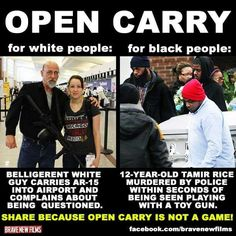 Open carry for white vs black people