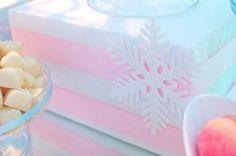 Winter Wonderland Dessert Table — Celebrations at Home First Birthday Winter, Winter Birthday Parties, Snowflake Ornaments, Snowflakes, Frozen Theme, Winter Onederland, Unicorn Party, Christmas Balls, Dessert Table