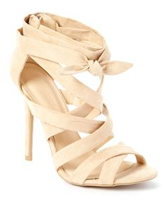 Look at this Wild Diva Natural Adele Strappy Heeled Sandal on #zulily today!
