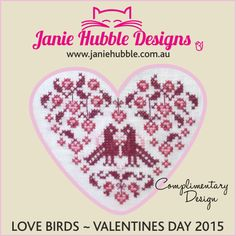 Lovebirds, from Janie Hubble Designs, designed by @janie_hubble.