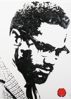 Vinyl Record Art Broken Lps of Malcolm X by VinylPopStop on Etsy, $3500.00
