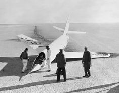 X-2 with Collapsed Nosewheel, 1st Flt 18 Nov 1955, Retired, 27 Sep 1956, No. Built 2