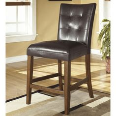Signature Design by Ashley 'Lacey' Medium Brown Upholstered Bar Stool (Set of 2)