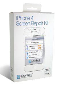 iPhone 4 CDMA (Verizon / Sprint) Premium Replacement Screen & Repair Kit - White: Cell Phones & Accessories ($64.89)