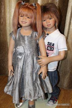 Один кавалер на целую гвардию девчонок! Но каков...!!! Eddie by Annette Himstedt / Коллекционные куклы Annette Himstedt / Бэйбики. Куклы фото. Одежда для кукол