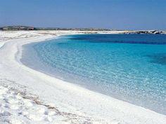 Spiaggia di quarzo is arutas, Oristano, Sardegna.