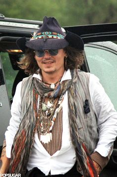 Johnny Depp at Comanche Native American Fair in Lawton, OK