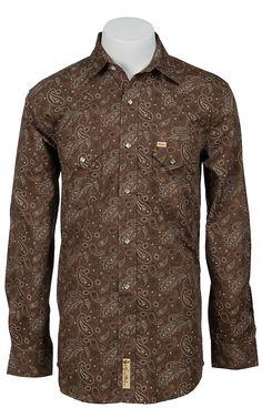 Larry Mahan Mens Long Sleeve Western Snap Shirt LM1340720