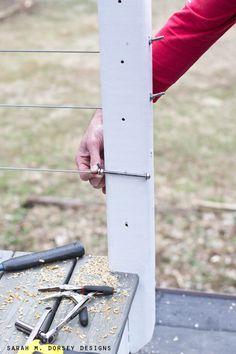 sarah m. dorsey designs: DIY Wire Railing | Tutorial