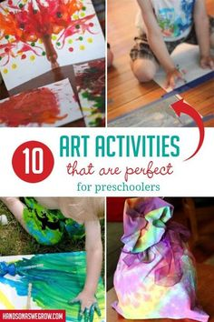 Use supplies you already have at home for these DIY art activities for preschoolers. Use their growing focus and fine motor skills to create! #easyartactivities