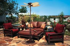 The Torrento Is Perfect To Bring Cooling To This Funky Outdoor Area.
