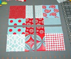 disappearing 9 patch - my new favorite quilt pattern. So easy and goes so fast.