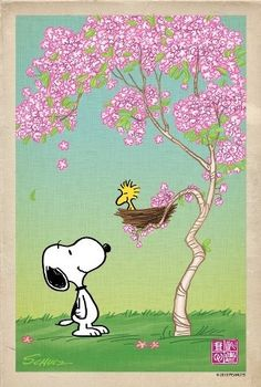 come on spring i'm waiting - snoopy