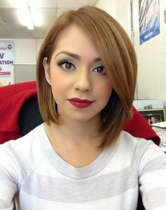 short angled bob for girls