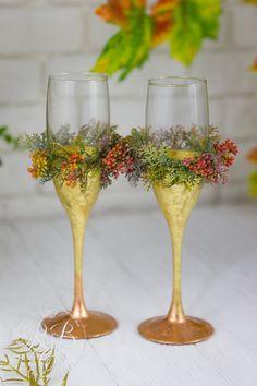 Personalizada flautas de champán oro boda copas boda completo