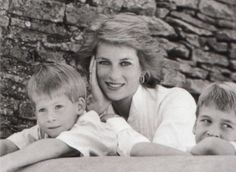 December 1989: Lady Diana and her sons, Prince William and Prince Harry appeared in a British Vogue article and photo spread about working mothers and their children.