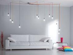 Lampadario Bolle Design Composizione a Sei, Nove o Dodici Luci Orientabili a Piacere - Offerta Design