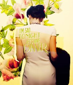 """I'm sad tonight, let's have dinner"" #BBCSherlock #AScandalInBelgravia #IreneAdler"