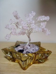 Wire tree with beads -  these are really lovely, also great gift idea!