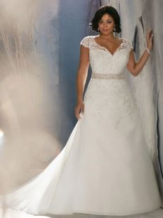 A-Line V-Neck Chapel Train Organza Classic Wedding Dress - Google Search
