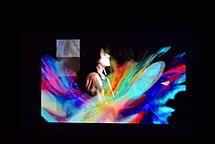 """fotogramma pittorico del Videoarte """"Tango y Ritmo"""" © Carina Aprile"""