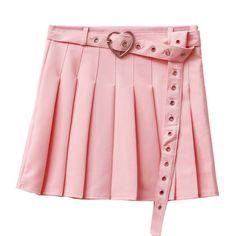 6 Colors Heart Belt Tennis Skirt from CutieKill Skirt Belt, Pleated Skirt, Summer Skirts, Mini Skirts, Korean Fashion Summer, Aesthetic Fashion, Aesthetic Girl, Look Cool, Cute Outfits