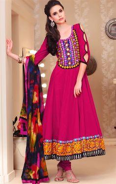Exclusive Dark Pink Designer Party Wear Salwar Salwar Kameez Set INHSPSEA3409 - www.indianwardrobe.com