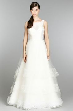 Tara Keely :: Jewel A-Line Wedding Dress  with Natural Waist in Silk Mikado. Bridal Gown Style Number:32799009