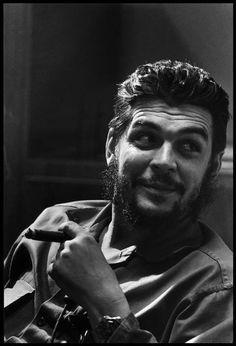 Argentine Marxist revolutionary, author, and theorist Che Guevara, Havana, Cuba, 1964, photograph by Elliott Erwitt.