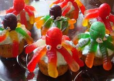 Octopus cupcakes for under the sea birthday theme