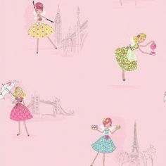 "Found it at Wayfair.ca - Kids World Fairy Tea Time European Party 33' x 20.5"" Figural Wallpaper"