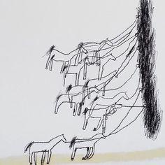 On the job #oiloncanvas #150x200cm #detail #horses #work #marisemaas #flinderslanegalley @flinderslanegallery