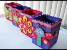 Manualidades infantiles con palos de helado http://ini.es/KEsQmC #ActividadesParaNiños, #Cajas, #ManualidadesInfantiles, #PalitosDeHelado, #Reciclar