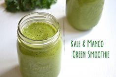 Kale and mango green smoothie