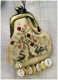 CS94 Tree of Life Thimble Purse Chart from With Thy Needle & Thread - click for more