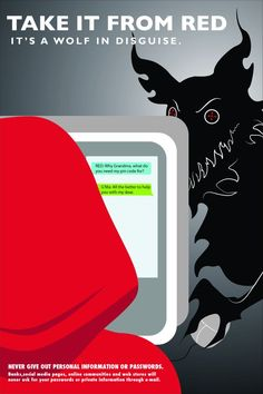 """2011 Student Poster Contest Silver Winner: """"Cyber Red Riding Hood"""""""